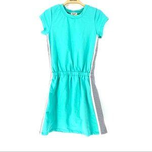 Kidpik Girl's Striped Side Short Sleeve Tee Dress